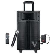 现代 V1-12 广场舞音响 12英寸大功率户外便携拉杆音箱 带麦克风话筒 黑色