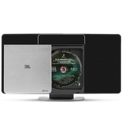 JBL MS202SL USB/CD播放机 FM收音机 蓝牙 迷你组合音响(银色)