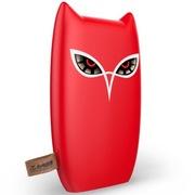 台电 超薄聚合物移动电源8000毫安手机平板用 卡通猫头鹰充电宝红色 T80Z-R
