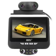 任e行 S600 四个镜头360度全景行车记录仪防碰瓷全高清夜视汽车停车监控 标配+64G卡