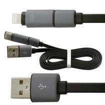 水草人 手机加长安卓苹果二合一usb数据线充电线适用于苹果5/6三星华为中兴小米OPPO 0011-7产品图片主图