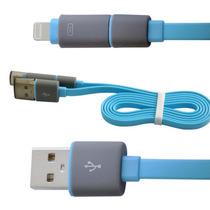 水草人 手机加长安卓苹果二合一usb数据线充电线适用于苹果5/6三星华为中兴小米OPPO 0011-5产品图片主图