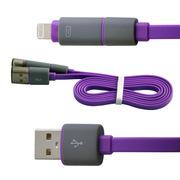 水草人 手机加长安卓苹果二合一usb数据线充电线适用于苹果5/6三星华为中兴小米OPPO 0011-6
