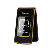 纽曼 V9 移动/联通2G 双卡双待 翻盖老人手机 黑金