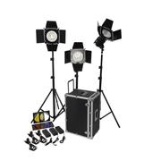 富莱仕 LED 575三灯套装专业摄影灯摄像灯人像景物采访专用影棚人像、服装、儿童拍摄等 含灯架版