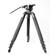 miliboo 铁塔MTT702A专业摄像机新闻大三脚架三角架含液压云台套装