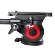 miliboo MYT801专业摄像机平底云台碗径75mm云台 变脸王