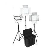 富莱仕 C900S摄像灯LED影视灯套装微电影灯 三灯套装影棚人像、服装、儿童拍摄等 无灯架版