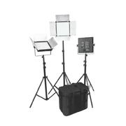 富莱仕 D700影视灯LED三灯套装摄像灯微电影摄影灯影棚 含灯架版