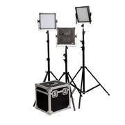 富莱仕 K4000S三灯套外拍灯套装LED摄像灯套装微电影灯光影棚人像、服装、儿童拍摄等 含灯架版