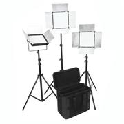 富莱仕 D1296摄影LED三灯套装 影棚灯 摄影外拍灯套装影视灯影棚人像、服装、儿童拍摄等 无灯架版