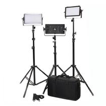 富莱仕 C300S摄影LED三灯套装微电影灯影棚灯 含灯架版产品图片主图