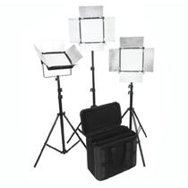 富莱仕 D1296摄影LED三灯套装 影棚灯 摄影外拍灯套装影视灯影棚人像、服装、儿童拍摄等 含灯架版产品图片主图