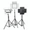 富莱仕 D1296摄影LED三灯套装 影棚灯 摄影外拍灯套装影视灯影棚人像、服装、儿童拍摄等 含灯架版产品图片3