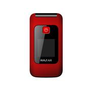 锐族 R2015 电信2G翻盖老人手机 红色
