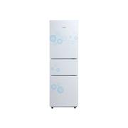 美的 BCD-216TM(E)216升高颜值/大冷藏/静音/省电/三门冰箱(悦动白)