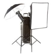 保荣(BOWENS) 影棚灯 影室灯 英国(BOWNES) 爱拍双控500C双灯 伞/柔光箱套装