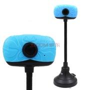 现代 HYC-D500 免驱网络高清摄像头 内置麦克风 蓝色