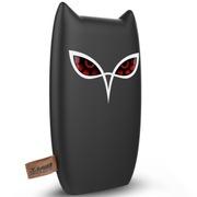 台电 超薄聚合物移动电源8000毫安手机平板用 卡通猫头鹰充电宝黑色 T80Z-K
