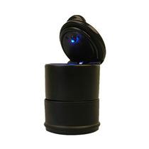英才星 汽车烟灰缸LED灯烟灰缸车用车载烟灰缸创意 带盖可移动家用烟灰缸 通用型产品图片主图