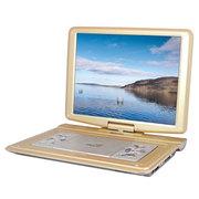 先科 移动DVD 18寸高清大屏便携式evd影碟机带电视3D播放器 金色