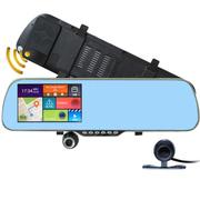优路特 V60 安卓后视镜GPS导航仪行车记录仪电子狗一体机倒车影像 双镜头 流动固定测速 内置8G送16G卡