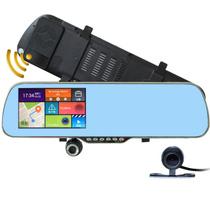 优路特 V60 安卓后视镜GPS导航仪行车记录仪电子狗一体机倒车影像 双镜头 流动固定测速 内置8G送16G卡产品图片主图