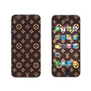 利乐普(LEAP) 苹果5s卡通图案彩膜 iphone5/5s屏保彩贴 手机保护膜高清彩膜 LV花纹图