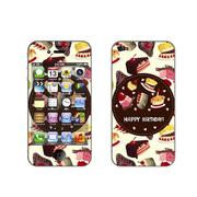 利乐普(LEAP) 苹果4s卡通图案彩膜 iphone4/4s屏保彩贴 手机保护膜高清彩膜 蛋糕图案