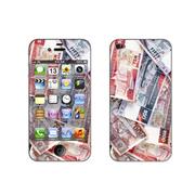 利乐普(LEAP) 苹果4s卡通图案彩膜 iphone4/4s屏保彩贴 手机保护膜高清彩膜 货币图案