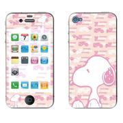 利乐普(LEAP) 苹果4s卡通图案彩膜 iphone4/4s屏保彩贴 手机保护膜高清彩膜 史努比