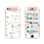 利乐普(LEAP) 苹果5s卡通图案彩膜 iphone5/5s屏保彩贴 手机保护膜高清彩膜 碎花图案