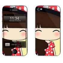 利乐普(LEAP) 苹果4s卡通图案彩膜 iphone4/4s屏保彩贴 手机保护膜高清彩膜 马尾小希产品图片主图