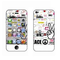 利乐普(LEAP) 苹果4s卡通图案彩膜 iphone4/4s屏保彩贴 手机保护膜高清彩膜 V字手花纹产品图片主图