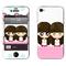 利乐普(LEAP) 苹果4s卡通图案彩膜 iphone4/4s屏保彩贴 手机保护膜高清彩膜 姐妹花小希产品图片1