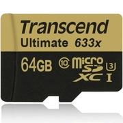 创见 64GB UHS-I U3 633X TF(Micro SD)超高速存储卡(读取95Mb/s 写入85Mb/s)(MLC颗粒)