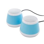 耐鹰 Bay 多媒体笔记本平板音响 USB迷你音响 卡通音箱 迷你低音炮小音响 浅蓝色