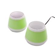 耐鹰 Bay 多媒体笔记本平板音响 USB迷你音响 卡通音箱 迷你低音炮小音响 绿色