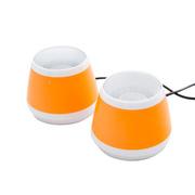 耐鹰 Bay 多媒体笔记本平板音响 USB迷你音响 卡通音箱 迷你低音炮小音响 橙色