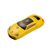 apphome 新款创意迷你小汽车直板小手机双卡双待学生儿童个性袖珍打火机手机 黄色