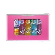 富信 BC-17S(玻璃门) 迷你单门小冰箱 粉红色