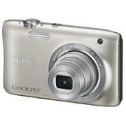 尼康 Coolpix S2900 便携数码相机 银色(2005万像素 2.7英寸屏 5倍光学变焦 26mm广角)