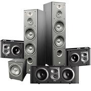 JBL E90BK ES10BK ES25CBK E250PBK 5.1家庭影院套装 (黑色)