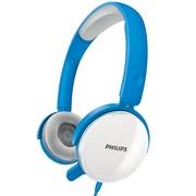 飞利浦 SHM7110BL 可更换耳罩 头戴式 电脑耳麦 游戏耳机 蓝色