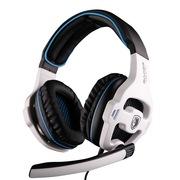 赛德斯 (Sades) SA-810 头戴式 游戏玩家 定制耳机(白蓝)