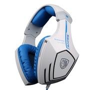 赛德斯 /Sades A60附魔钻 OMG定制版电脑游戏耳机头戴式7.1声道耳麦 变色呼吸灯 白蓝版