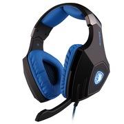 赛德斯 (Sades) 附魔钻 A60 头戴式 7.1声道 高端 专业 游戏耳机(黑蓝)