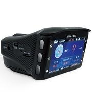 SHE 车载行车记录仪8合1一体机 高清夜视170度超广角单镜头 云自动升级 固定流动测速 黑色