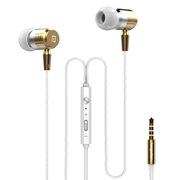 兰士顿 F1 涡轮金属重低音入耳式 线控调音带麦通话手机耳机 金色
