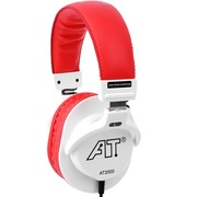isk  AT2000 专业监听耳机 红白色 轻便全封闭式设计